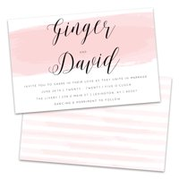 Personalized Pink Watercolor Wedding Invitations