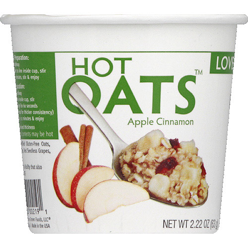 Love Grown Foods Apple Cinnamon Hot Oats, 2.22 oz, (Pack of 8)