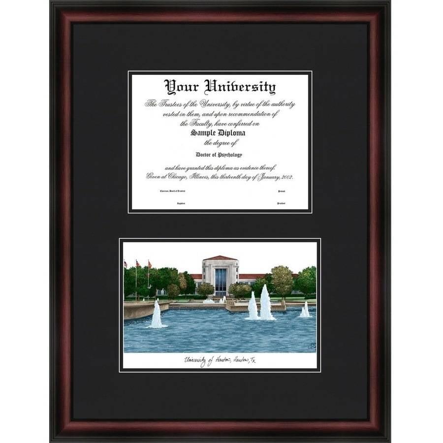 "University of Houston 11"" x 14"" Diplomate Diploma Frame"