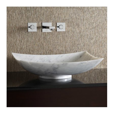 Ryvyr Marble Rectangular Vessel Bathroom Sink