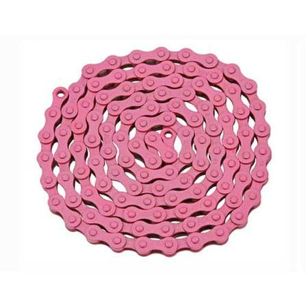 YBN Chain 1/2x1/8x112 Pink. for bicycle Chain, bike chain, lowrider bikes, beach cruiser, chopper, limos, stretch, bmx,