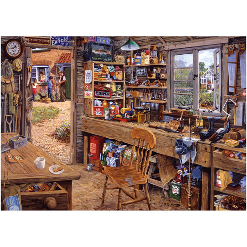Ravensburger Dad's Shed Large-Format Puzzle, 500 Pieces