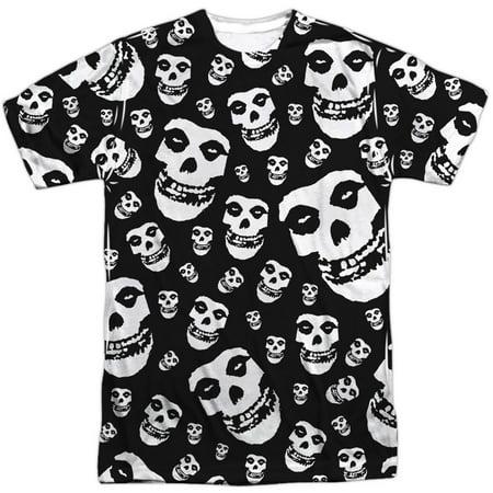 Misfits Men's  Fiends All Over Sublimation T-shirt White (Misfits Fiend Mask)