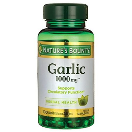 Nature's Bounty Odorless Garlic Softgels 1000mg, 100 Ct
