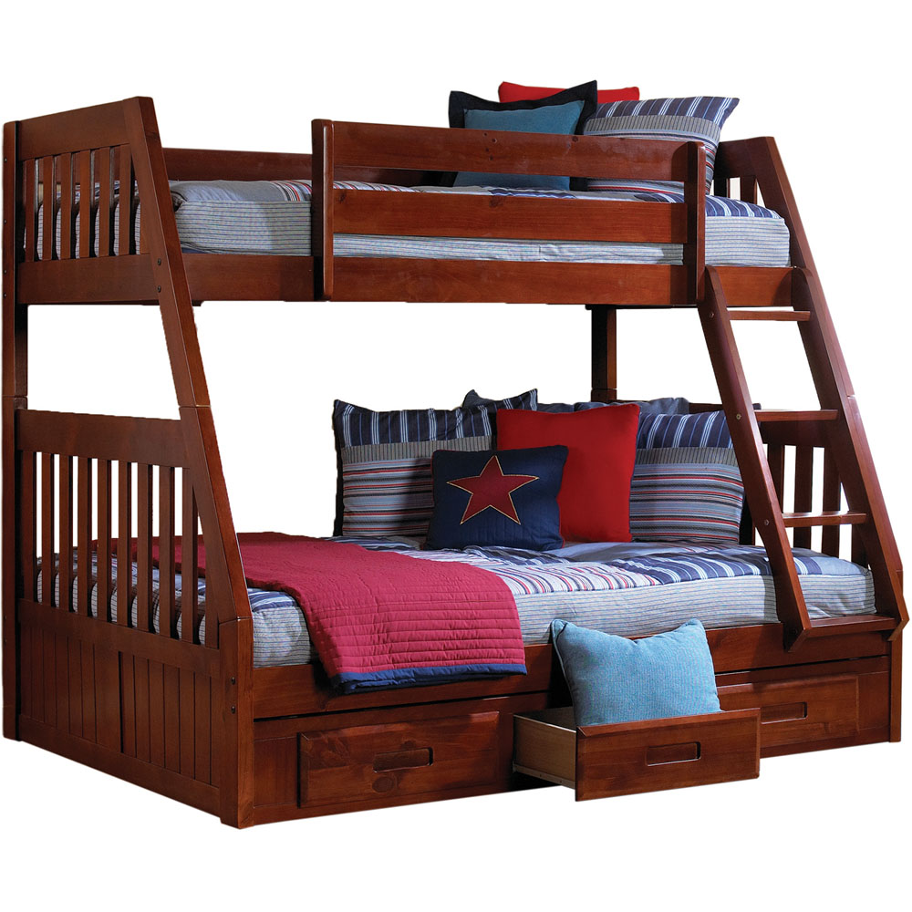 Cambridge Stanford Twin Over Full Bunk Bed with Twin Trundle
