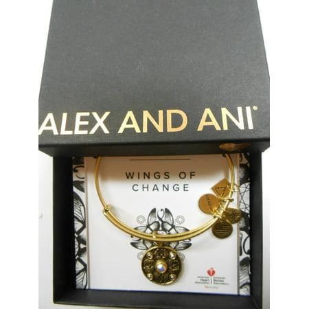 Charity Design Wings of Change Expandable Rafaelian Gold Bangle Bracelet Paper Wings Clothing