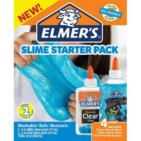 Elmer's Blue Glitter Slime Starter Pack