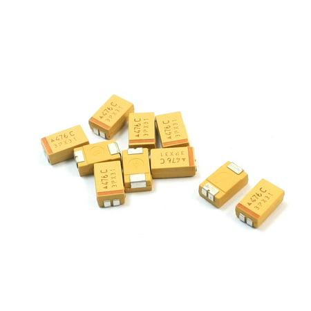 10pcs D Type Surface Mount 47uF 16V SMD SMT Chip Tantalum Capacitors