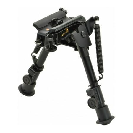 Aimtech Adjustable Heavy Duty Stud Mount Bipod, Lever Locking Pivot, Black, 6-9i Adjustable Mount Black Powder Coat