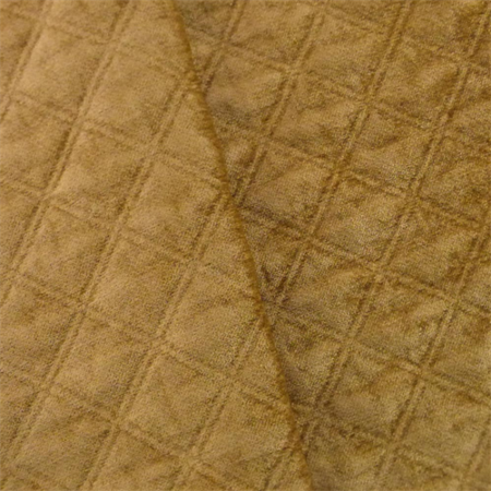 Cider Beige Diamond Quilted Chenille Home Decorating Fabric, Fabric By the Yard