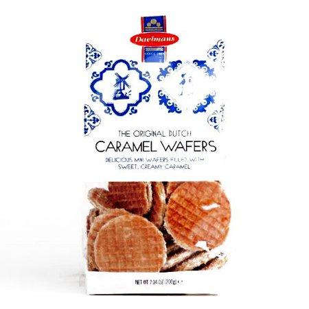 Daelmans Dutch Caramel Wafers Bag (1 Unit Per Order) - Gourmet Christmas Gift for the Holidays - Gourmet Halloween Caramel Apples