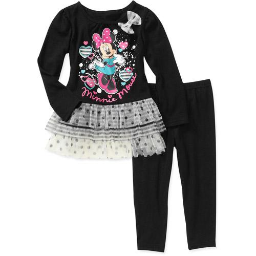 Disney Baby Girls' Minnie 2-Piece Tunic and Legging Set