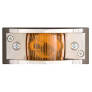 CHROME PLATED CLEARANCE LIGHT AMBER