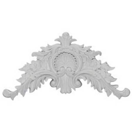 Ekena Millwork APL11X06X01SH 11.50 in. W x 6 in. H x 1.38 in. P Architectural accents With Mini Shell Center Scrolls - image 1 de 1
