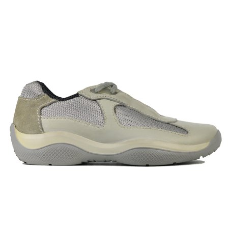 - Prada Women Beige Leather Suede Low Top Lace Up Trainer Sneakers