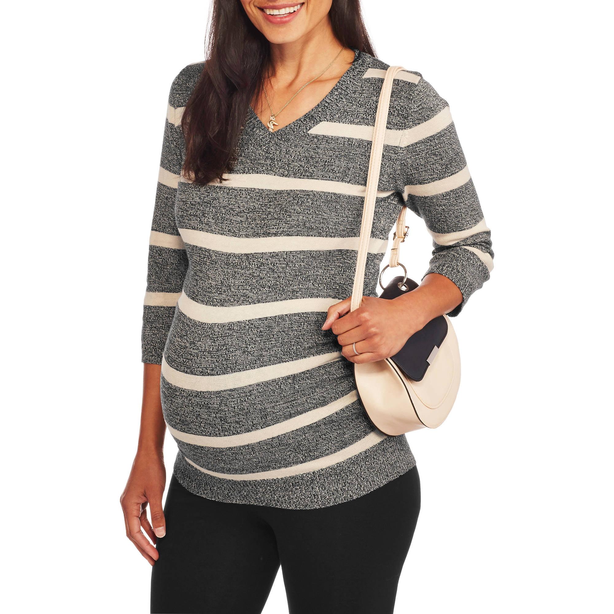 Rumor Has It Maternity V-Neck Striped Sweater