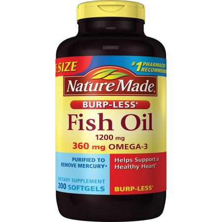 Nature Made Fish Oil 1200mg + Vitamin D 1000 IU Liquid Softgels - 90ct