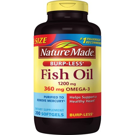 Nature made 1200 mg fish oil liquid softgels 200ct for How is fish oil made