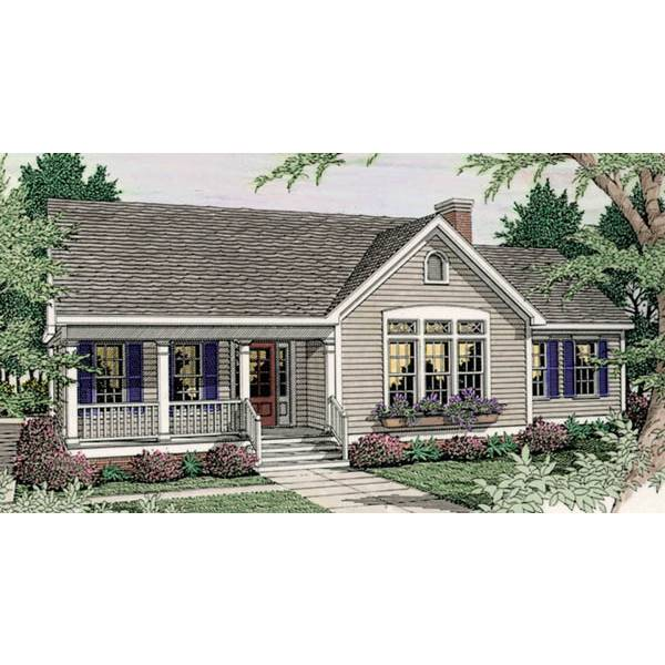 TheHouseDesigners-3626 Country House Plan with Basement Foundation (5 Printed Sets)