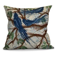 E by Design Flipping For Fall Jays Sketch Print Outdoor Pillow