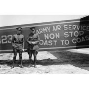 Buy Enlarge 0-587-46252-LP20x30 Pilots pose in front of a Plane that they fly coast to coast- Paper Size P20x30