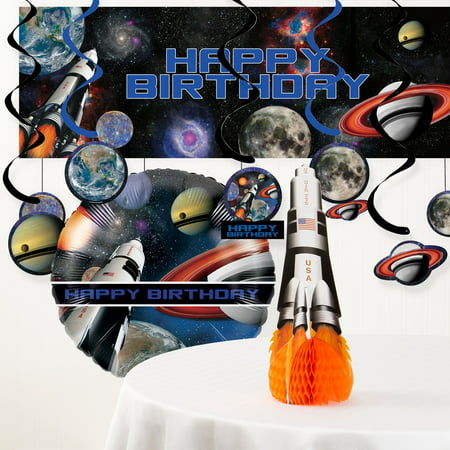 Space Blast Birthday Party Decorations Kit - Space Decorations