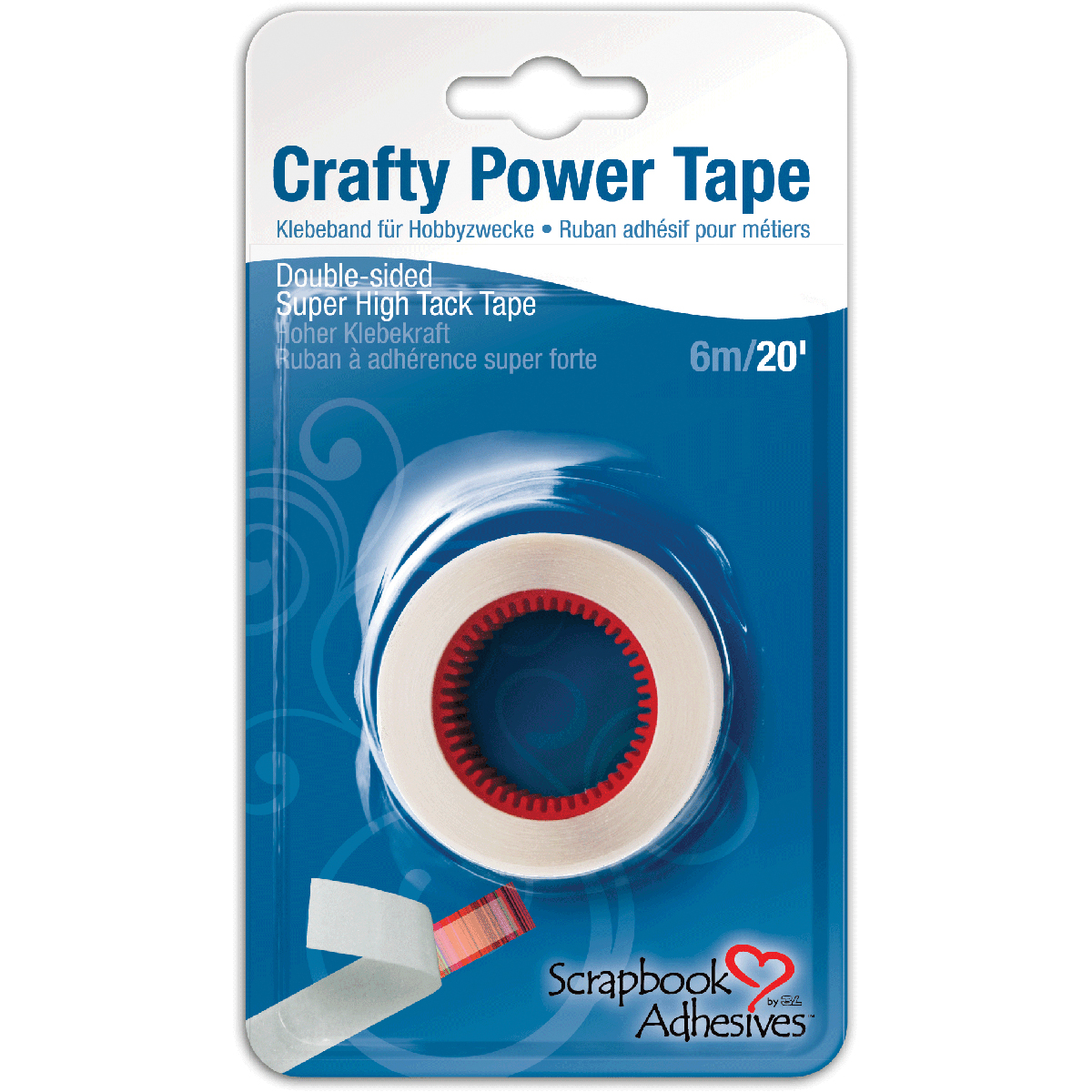 Crafty Power Tape Refill-.25 Inch X 20ft
