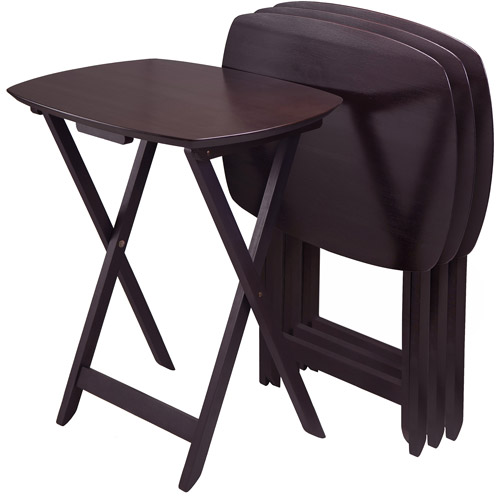 Winsome Oversize Single TV Tables, Espresso, Set of 4