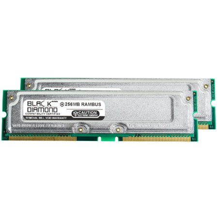 512MB 2X256MB Memory RAM for Gateway Performance Series 1400xl deluxe, 1700 184pin PC800 45ns 800MHz Rambus RDRAM RIMM Black Diamond Memory Module Upgrade