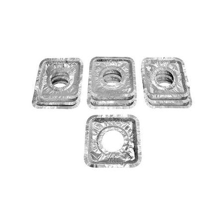100 Pc Aluminum Foil Square Gas Burner Disposable Bib Liners Stove Covers ()