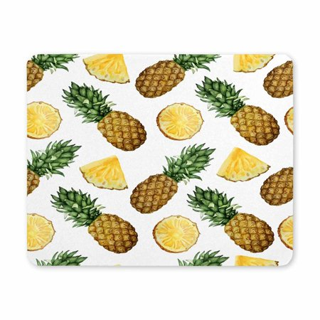 POP Watercolor Pattern with Pineapples Gaming Mouse Pad Oblong Shaped Mouse Mat 9x10 inch - image 2 of 2
