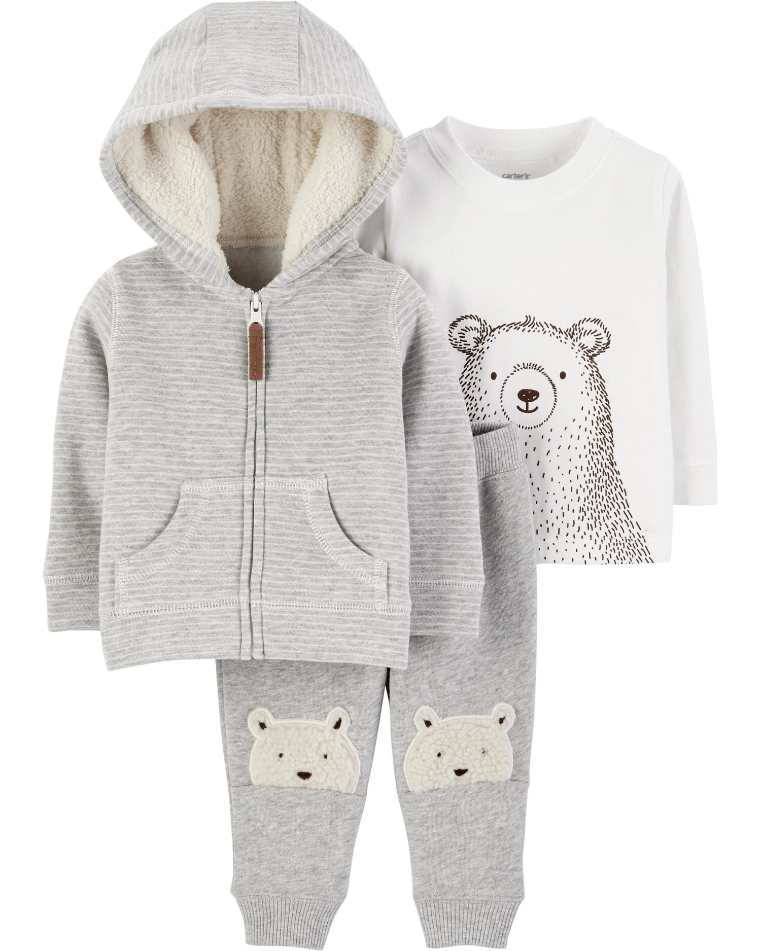 2566c8003 Carter s - Carter s Baby Boys  3-Piece Fleece Jacket Set