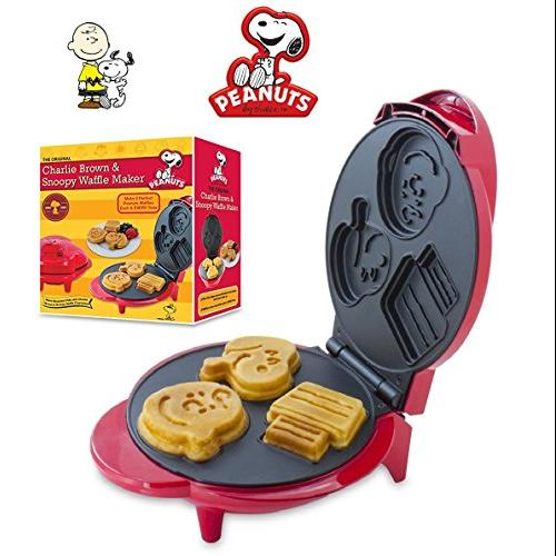 Smart Planet Peanuts Snoopy & Charlie Brown Character Waffle Maker (WM6S)