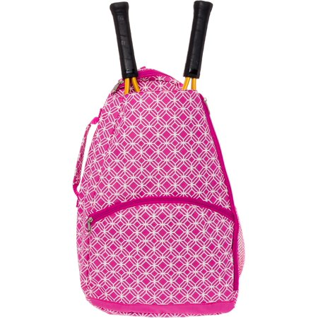 LISH NEW Women's Ace Printed Tennis Racket Holder Travel Backpack Tote Bag for $<!---->