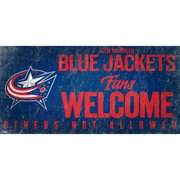 "Columbus Blue Jackets 6"" x 12"" Fans Welcome Sign"