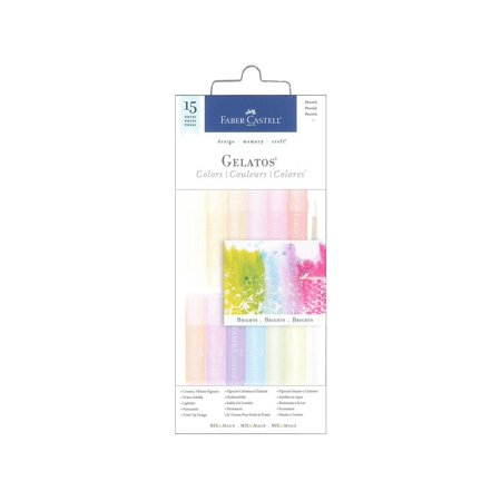 Faber Castell Gelatos Pastels Colors Set, 15 - Faber Castell Tins