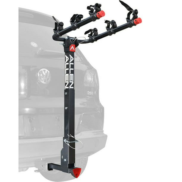 Allen Sports Deluxe Quick Install Locking 3-Bicycle Hitch Mounted Bike Rack Carrier, 532QR