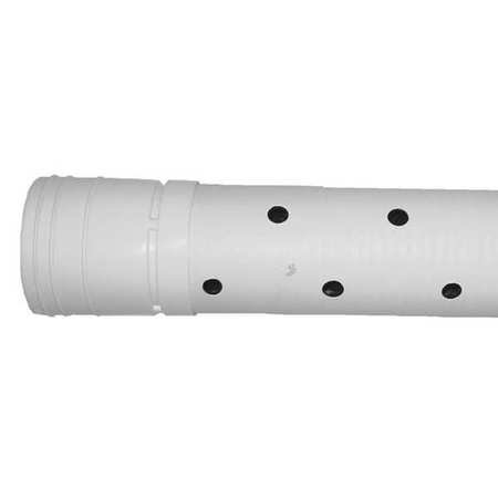 Advanced Drainage Systems 04530010 Corrugated Drainage Pipe 3Hole Prforated
