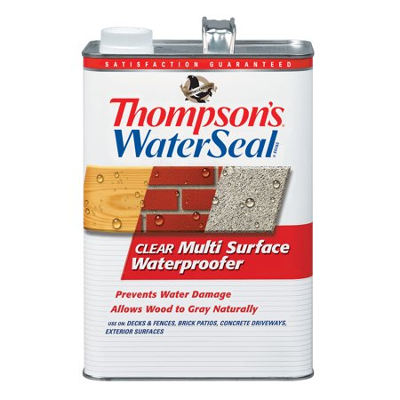 - Thompson's WaterSeal Multi-Surface Waterproofer, Clear, 1-Gal