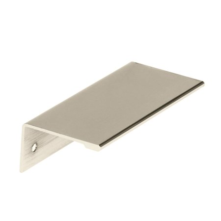 Edge Pull 3 in (76 mm) Center-to-Center Polished Nickel Cabinet (Schaub Nickel Pull)