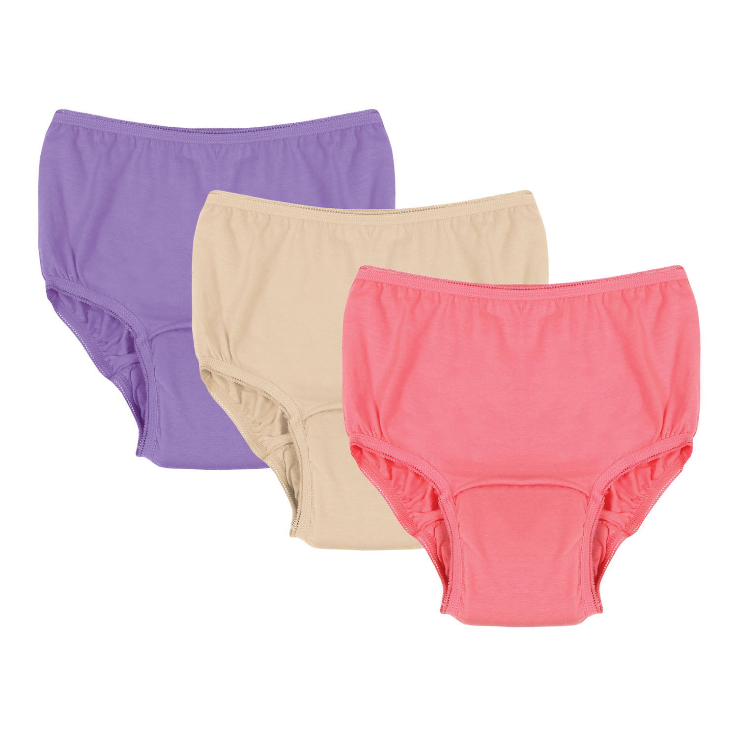 Women's Adult Incontinence Panties - Assorted Colors - 20 Oz. Pad - 3 Pack