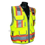 Radians SV55-2ZGD Class 2 Heavy Woven Two Tone Engineer High Visibility Vest (XL)