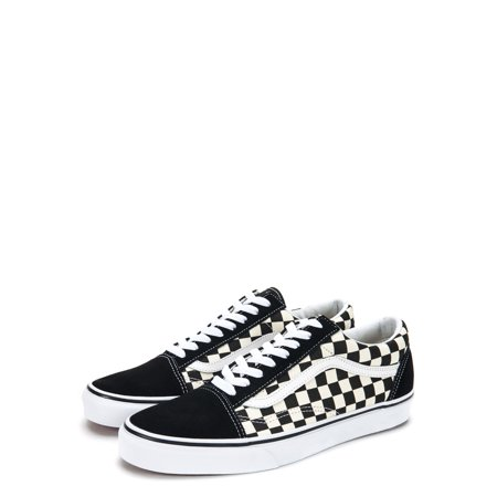 Vans OG Old Skool Primary Check Sneakers VN0A38G1P0S Black/White - Lacing Vans Shoes