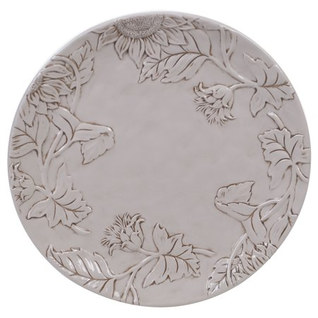 Embossed Rooster (Toile Rooster Embossed Round Platter,)