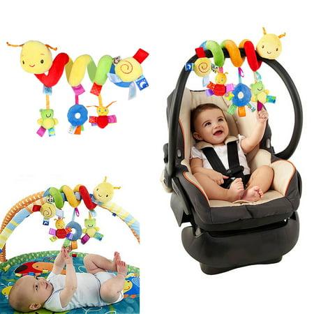 Spiral Stroller Toys, Baby Car Seat Toys Crib Cot Pram Hanging Rattles Baby Cards To Print
