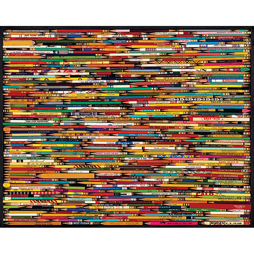 White Mountain Puzzles Hundreds and Hundreds of Pencils, 1000-pieces