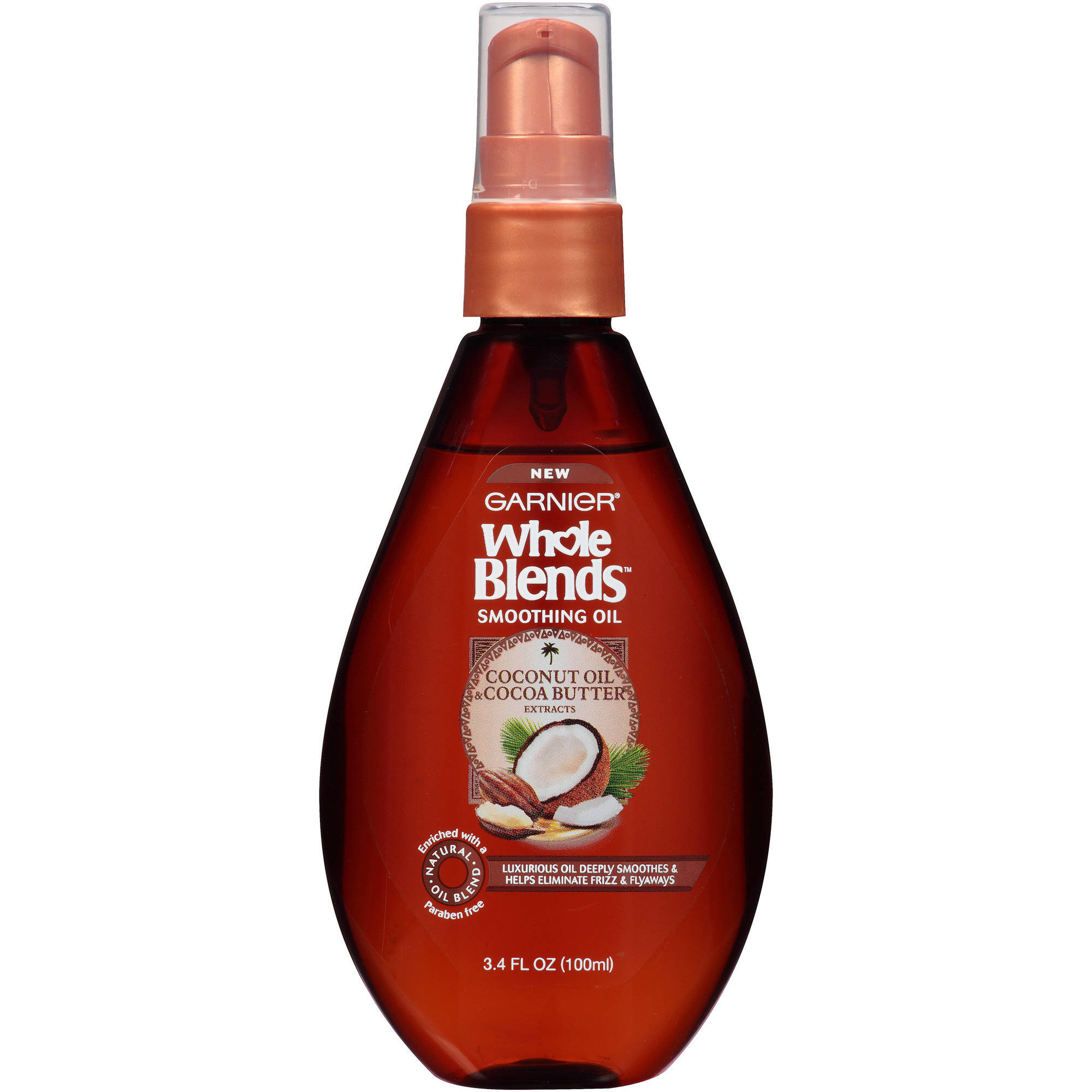 Garnier Whole Blends Coconut Oil & Cocoa Butter Extracts Smoothing Oil, 3.4 fl oz