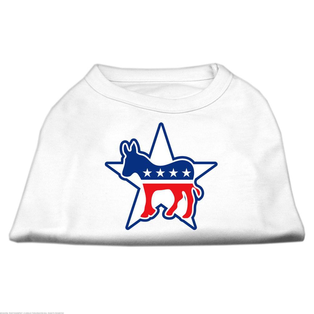 Dog Supplies Democrat Screen Print Shirts White Xs (8)
