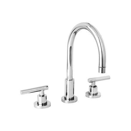 Newport Brass 990L/26 East Linear Polished Chrome two handle Widespread Lavatory (Newport Brass Widespread Faucet)
