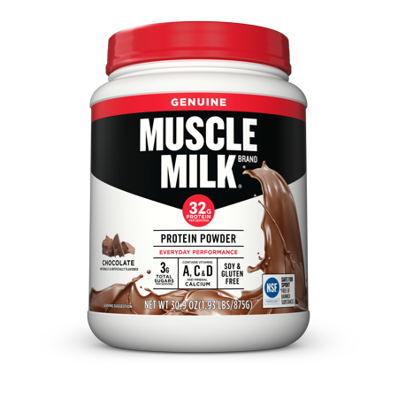 Muscle Milk Genuine Protein Powder, Chocolate, 32g Protein, 1.9